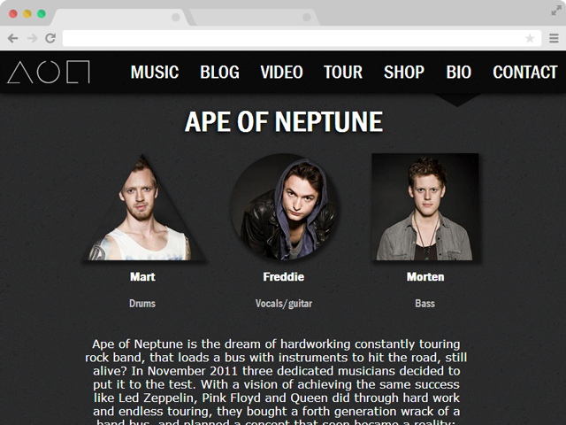 Ape of Neptune Band website