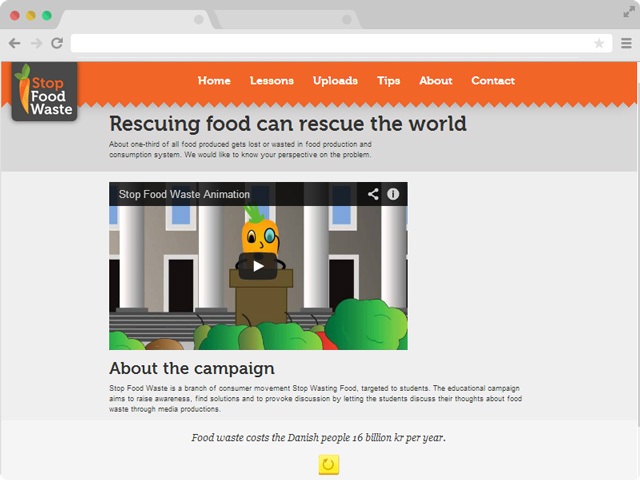Stop Food Waste campaign website